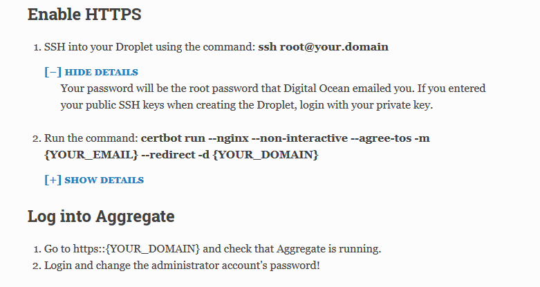ODK Aggregate setup on DigitalOcean - Support - ODK Forum