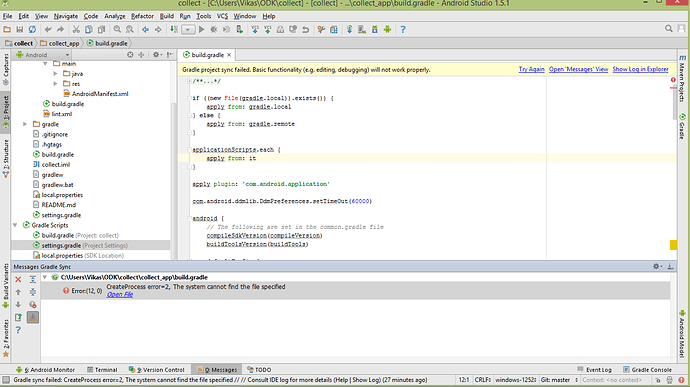 Import project on Android studio - Development - ODK Forum