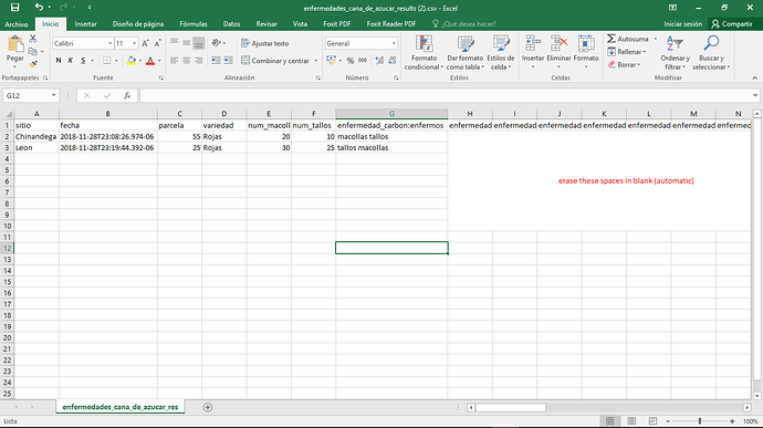 How to remove columns that were not filled in forms