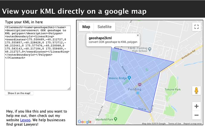 ODK geoshape/geotrace/geopoint to KML - Showcase - ODK Forum