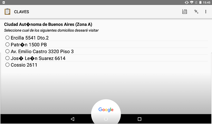 CSV Support File - Not showing special characters on Android