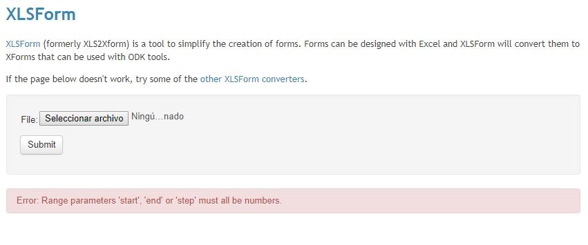 xlsform offline